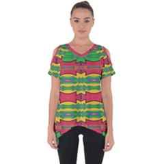Shapes Rows Pattern                                 Cut Out Side Drop Tee