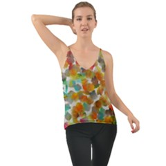 Colorful Paint Brushes On A White Background                                 Chiffon Cami