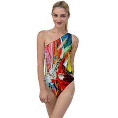 Red Aeroplane 2 To One Side Swimsuit