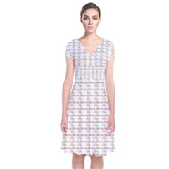Act Of Kindness Short Sleeve Front Wrap Dress