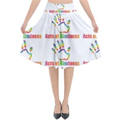 Acts Of Kindness Flared Midi Skirt