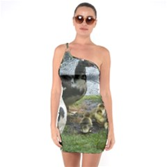 Muscovy Family One Soulder Bodycon Dress