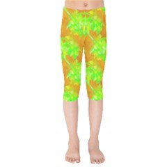 Coconut Palm Trees Caribbean Vibe Kids  Capri Leggings