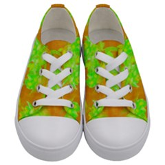 Coconut Palm Trees Caribbean Vibe Kids  Low Top Canvas Sneakers