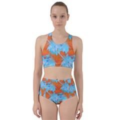 Coconut Palm Trees Tropical Dawn Racer Back Bikini Set
