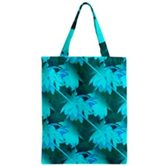 Coconut Palm Trees Caribbean Sea Zipper Classic Tote Bag