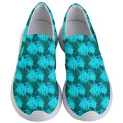 Coconut Palm Trees Blue Green Sea Small Print Women s Lightweight Slip Ons