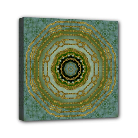 Modern Fantasy Rococo Flower And Lilies Mini Canvas 6  X 6  by pepitasart