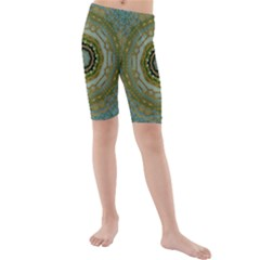 Modern Fantasy Rococo Flower And Lilies Kids  Mid Length Swim Shorts