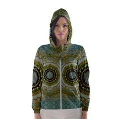 Modern Fantasy Rococo Flower And Lilies Hooded Windbreaker (women)