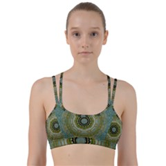 Modern Fantasy Rococo Flower And Lilies Line Them Up Sports Bra