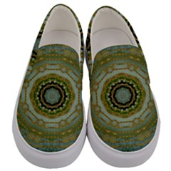 Modern Fantasy Rococo Flower And Lilies Men s Canvas Slip Ons