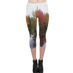 Autumn Pond Capri Leggings