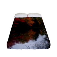 Autumn Pond Fitted Sheet (full/ Double Size) by IIPhotographyAndDesigns
