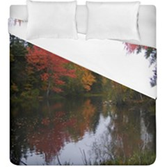 Autumn Pond Duvet Cover Double Side (king Size) by IIPhotographyAndDesigns