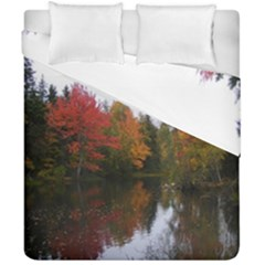Autumn Pond Duvet Cover Double Side (california King Size)