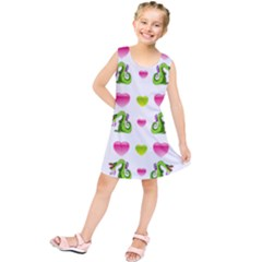Dragons And Hearts Kids  Tunic Dress