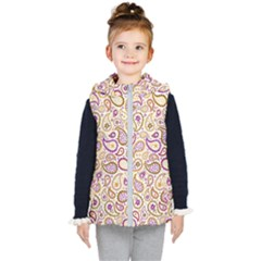 Damascus Image Purple Background Kid s Hooded Puffer Vest