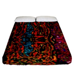 Retro Multi Colors Pattern Created By Flipstylez Designs Fitted Sheet (king Size)