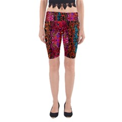 Retro Multi Colors Pattern Created By Flipstylez Designs Yoga Cropped Leggings