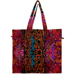 Retro Multi Colors Pattern Created By Flipstylez Designs Canvas Travel Bag by flipstylezdes