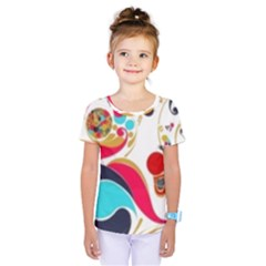 Retro Colorful Colors Splashes Kids  One Piece Tee