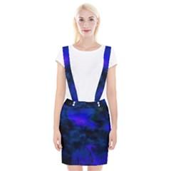 Abstract Blue Braces Suspender Skirt