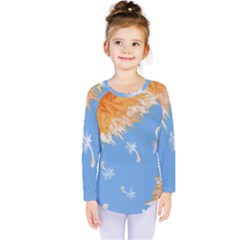 Floating Wishes Kids  Long Sleeve Tee by lwdstudio