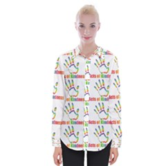 Acts Of Kindness Womens Long Sleeve Shirt