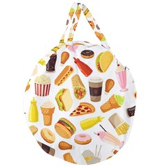 53356631 L Giant Round Zipper Tote