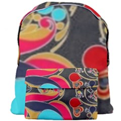 Retro Swirls In Black Giant Full Print Backpack