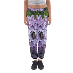 Lilac Bumble Bee Women s Jogger Sweatpants
