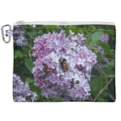 Lilac Bumble Bee Canvas Cosmetic Bag (xxl) by IIPhotographyAndDesigns