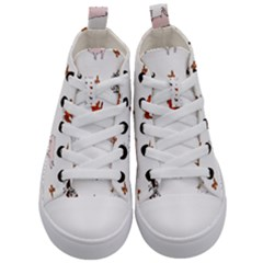 Farm Animals Kid s Mid Top Canvas Sneakers