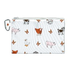 Farm Animals Canvas Cosmetic Bag (large) by IIPhotographyAndDesigns