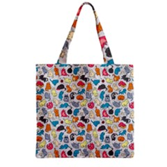 Funny Cute Colorful Cats Pattern Grocery Tote Bag