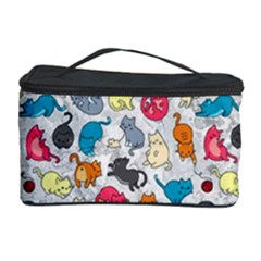 Funny Cute Colorful Cats Pattern Cosmetic Storage Case