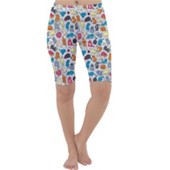 Funny Cute Colorful Cats Pattern Cropped Leggings