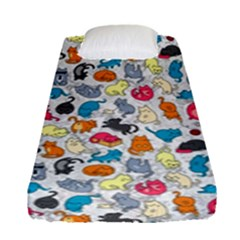 Funny Cute Colorful Cats Pattern Fitted Sheet (single Size)
