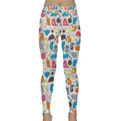 Funny Cute Colorful Cats Pattern Classic Yoga Leggings