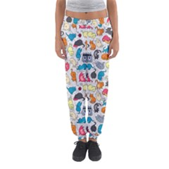 Funny Cute Colorful Cats Pattern Women s Jogger Sweatpants