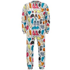 Funny Cute Colorful Cats Pattern Onepiece Jumpsuit (men)