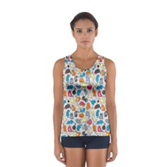 Funny Cute Colorful Cats Pattern Sport Tank Top