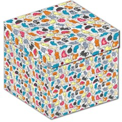 Funny Cute Colorful Cats Pattern Storage Stool 12