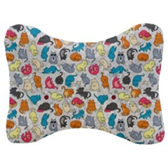Funny Cute Colorful Cats Pattern Velour Seat Head Rest Cushion