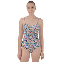 Funny Cute Colorful Cats Pattern Sweetheart Tankini Set