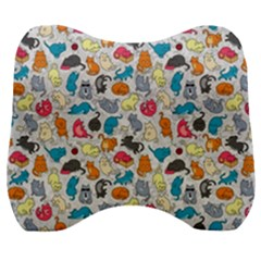 Funny Cute Colorful Cats Pattern Velour Head Support Cushion