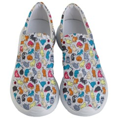 Funny Cute Colorful Cats Pattern Women s Lightweight Slip Ons