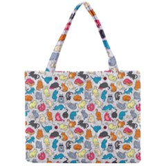 Funny Cute Colorful Cats Pattern Mini Tote Bag