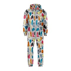 Funny Cute Colorful Cats Pattern Hooded Jumpsuit (kids)